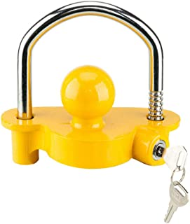 AutoForever Universal Adjustable Hitch Lock Ball Tongue Steel fit for 1-7/8