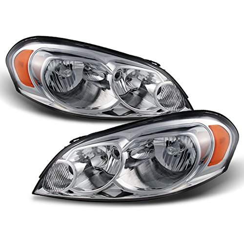 AKKON - For Chevy Impala/Monte Carlo OE Replacement Chrome Bezel Headlights Driver/Passenger Head Lamps Pair New