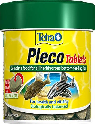 Tetra Pleco Fish Food, Complete Fish Food for All Herbivorous Bottom-Feeding Fish, 120 Tablets