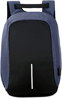 BOZEVON Laptop Bag - Business Casual Daypack with USB Charging Port College School Backpack,Blue,One Size