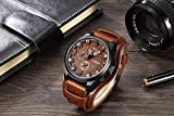 Relógio Masculino De Luxo Curren 8225 Quartz Original Couro