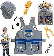 Dress 2 Play Handyman Pretend Costume, 8 Piece Dress up Set with Accessories