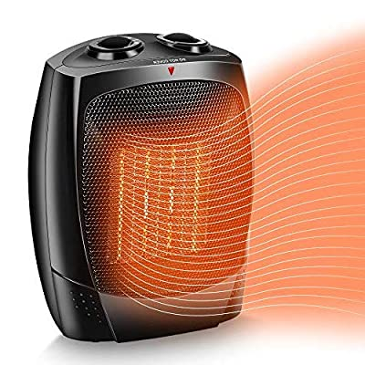 Air Choice Electric Space Heater 1500W Portable Electric Heater, Up to 200 sqft,Tip-Over & Overheat Shut-Off,3 Modes Adjustable, Personal Mini Ceramic Room Heater with Adjustable Thermostat