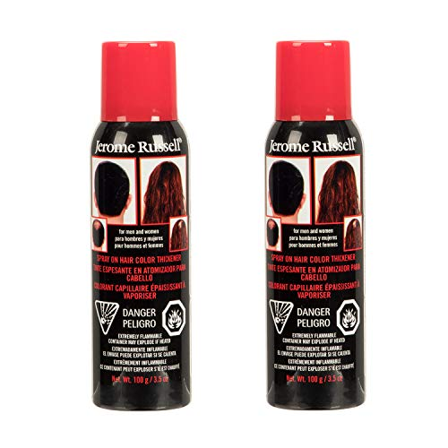 Jerome Russell Spray On Hair Color Thickener 3.5oz - Dark Brown (2 Pack)