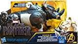 Marvel Black Panther Rhino Guard Vehicle with Charging horn action   Compatible with 6 inch action figures