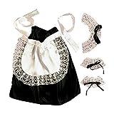 Widmann 6665C - Kostümset Hausmädchen, Kopfbedeckung, Halsband, Manschetten, Rock, Schürze,...