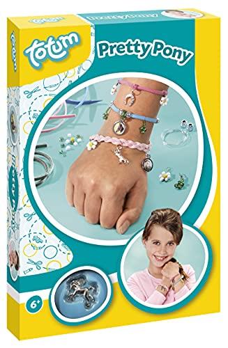 CREATIVITY Pretty Pony-Crea i tuoi braccialetti con diversi charms e perline di cavalli, Colore, 029538