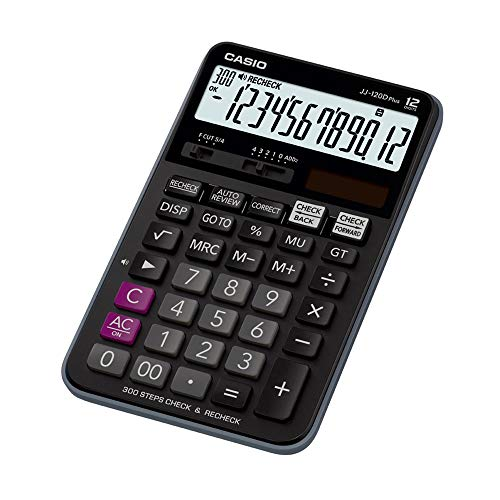 Casio JJ-120D Plus 300 Steps Check & Correct Desktop Calculator with On...