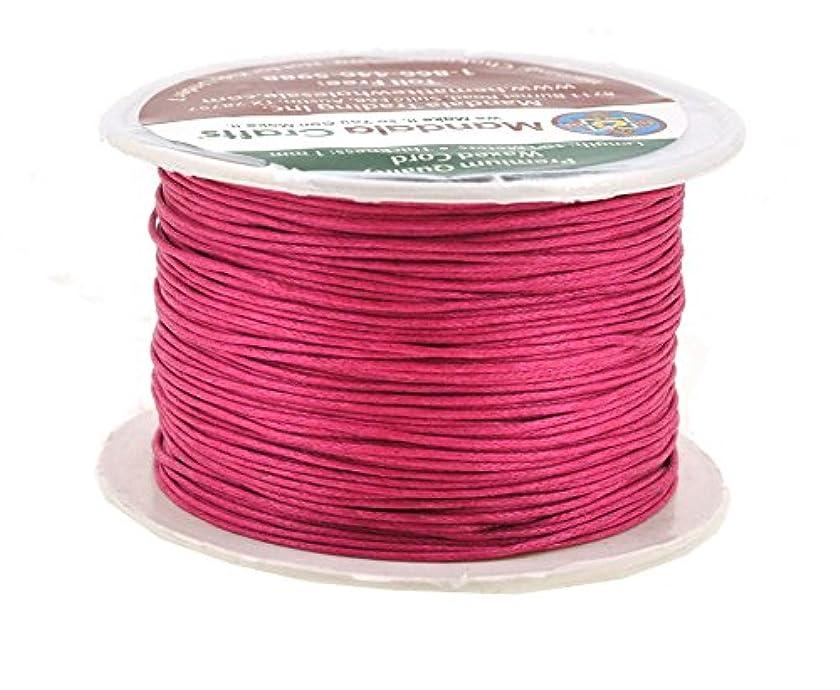 Mandala Crafts 1mm 109 Yards Jewelry Making Crafting Beading Macramé Waxed Cotton Cord Thread (Hot Pink)