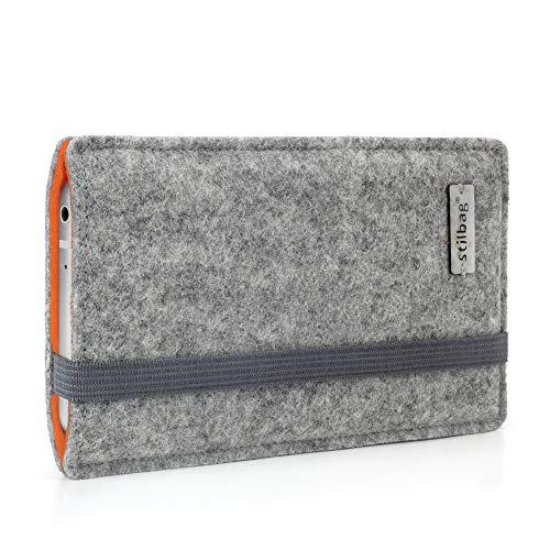 stilbag Funda de Fieltro 'Finn' para Samsung Galaxy Grand Prime - Color: Gris/Naranja