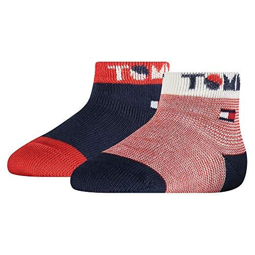 Tommy Hilfiger Wording Baby Socks (2 Pack) Calcetines, Marca: Tommy Original, 15-18 para Bebés