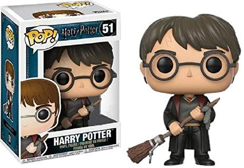Pop! Figurine Harry Potter avec Éclair de feu et plume