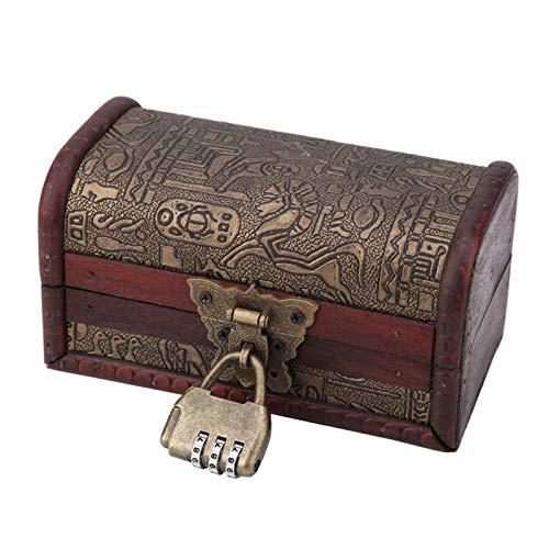 Aoutecen Caja de joyería Caja de joyería Almacenamiento de Collar Soporte de Caja de joyería Pulseras Pendientes(Small with Code Lock, 12)