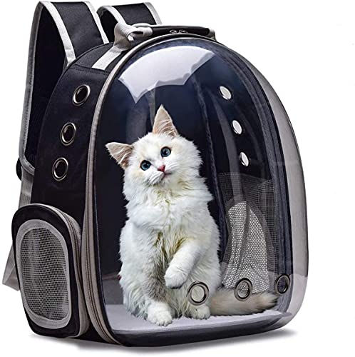 FayTun Mochila para mascotas Transporte Perro Mochila Para Mascotas Viaje Transpirable Cápsula Mochila Para Gatos Perros Pequeños