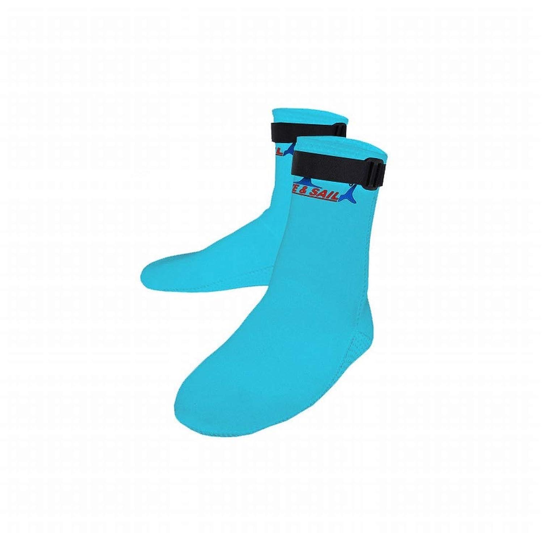 Kainuoo 3MMダイビングソックス男性と女性のネオプレンビーチサーフィンシュノーケリングソックス暖かい冬の冷たい水泳ソックス (Color : Blue, Size : S)