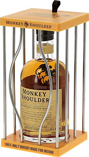 Monkey Shoulder Triple Malt Scotch Whisky im Käfig