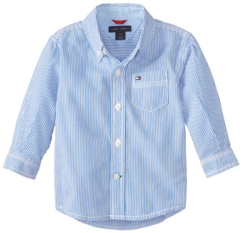 Tommy Hilfiger Baby Boys' Stripe Shirt, Strong Blue, 18 Months