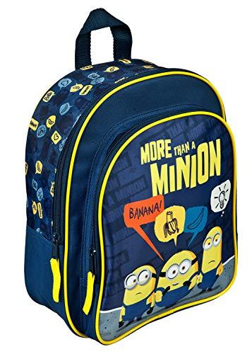 Undercover MNIO7601 - Kinderrucksack Minions mit Hauptfach, Fronttasche, Reißverschluß und höhenverstellbaren, gepolsterten Schultergurten, für Schule, Freizeit und auf Reisen