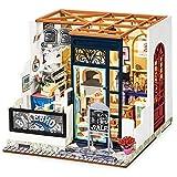 KIT DIY Robotime Rolife Miniature House - Nancy's Bake Shop la Boulangerie de Nancy, kit DIY Tout Compris à Monter soi-même, Structure Meubles Accessoires et lumières Inclus