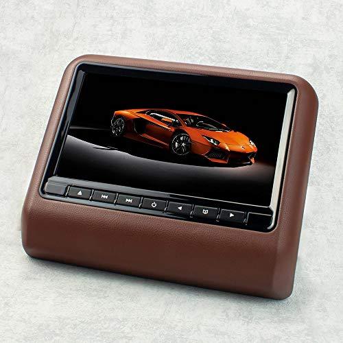22,9cm 9' Auto Kopfstützen Monitor Display für DVD Player USB SD (braun) mit FM-/IR-Transmitter