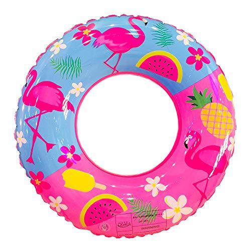 Schwimmringe Aufblasbarer Schwimmring mit Flamingo-Aufdruck für Kinder und Erwachsene