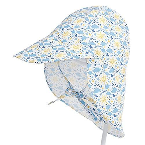 Sombreros de Cubo para niños deSecado rápido paraniños de 3 Meses a 5 años Protección UV de ala Ancha para la Playa Gorros para el Sol Esenciales para Exteriores-a20-3-18 Months