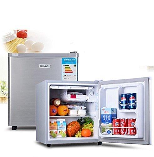 SL&BX Mini-koelkast, voor in de auto, dual use-slaapzaal, behuizing, roestvrij staal, deur