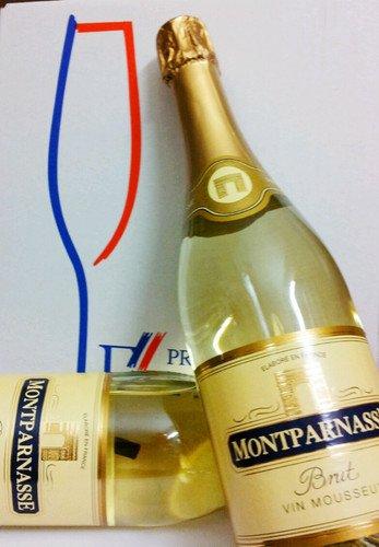 MONTPARNASSE Brut VIN MOUSSEUX 0,75l. Flasche Sekt delikat / weiss