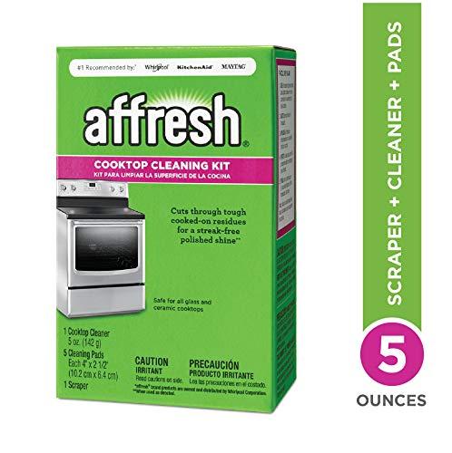Affresh W11042470 Stove Top Cleaner Kit, 5 oz, 5 Pads, 1 Scraper