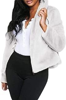 Womens Fashion Hooded Long Sleeve Faux Fur Jacket Winter Warm Coats