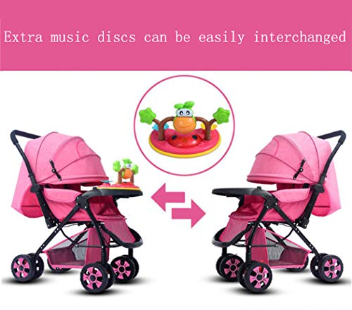 RAPLANC High View And Stylish Stroller, Baby Stroller for 2020, Four-Wheel Shock Absorption, 360-Degree Rotation Function, for Travel, Girly Heartpink,Blue RAPLANC ★ Fit kids 3-years up to 25kgs.Carbon steel material design to protect the safety of the baby.Can be fold into a very small size. Easy for traveling and car trips. Convenient one-hand and self-standing fold are smooth when use for pack up and go. ★ Large extended foldable canopy for maximum sun shade. A week-a-boo window, you can easily keep a watchful eye on your baby. Stay connected with your baby and no more worry while ensuring ventilation. Enlarge and easy to access storage basket holds all baby's necessities. Detachable cloth covers for easy cleaning. ★ Powder coating crafts. High quality material without pollutant. Small, light and practical. Armrest can be opened quickly in the middle. Detachable armrest offers safety guard and also allows baby easily in and out. 4