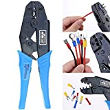 Hilitchi Professional Insulated Wire Terminals Connectors Ratcheting Crimper Tool for 22-10AWG
