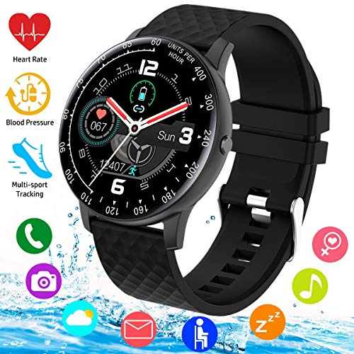 Smart Watch, Smartwatch for Android Phones, Waterproof Fitness Watch with Blood Pressure...