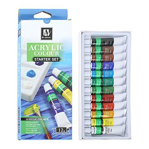 shiftX4 12 Kleuren 12ML Art Schilderen Tekening Gereedschap Voor Kinderen DIY Tube Acryl Verf Set