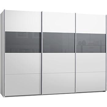 Armario ropero de puertas correderas, aprox. 300 cm, color blanco ...