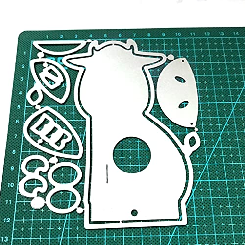YANZHI Big Eyes Little Cow Lollipop Box Troqueles de Corte de Acero al Carbono Álbum de Fotos de álbum de Recortes de Bricolaje Tarjetas de Papel en Relieve Fabricación de Troqueles en Relieve de