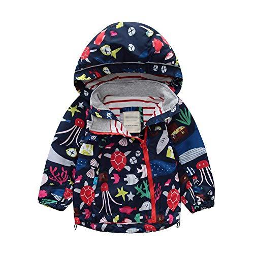 LAPLBEKE Baby Mädchen Regenjacke Kinder Jungen wasserdichte Winddicht Regenmantel Kapuzenjacken