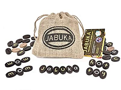 JABUKA Best Word Puzzle Game - Fun Family Games for Kids and Adults, Educational Spelling Party Game, Twistable Letter Set, Portable, 2-8 Players,