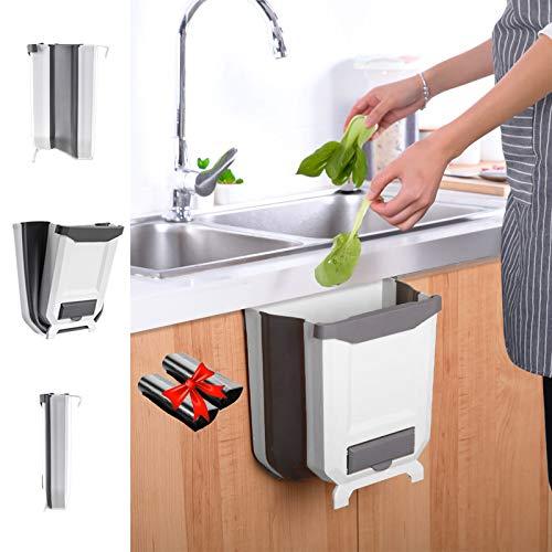 IYOYI Papelera Cocina Plegable Colgando Basura Accesorios Autocaravana para Cocina, Coche, BañO, Oficina