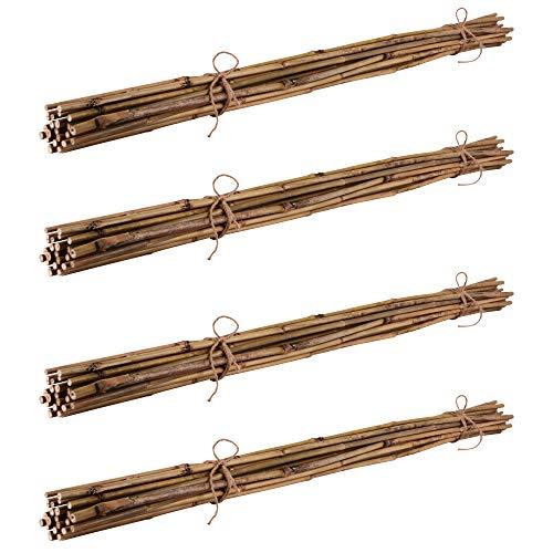 50 Bambusstäbe Bambusstangen 152 cm lang// 10-12 mm dick Zubehör zum Testen