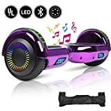 YHR 6.5inch Hoverboard with Led Colorful light, Self-Balacing Electric Scooter for Kids