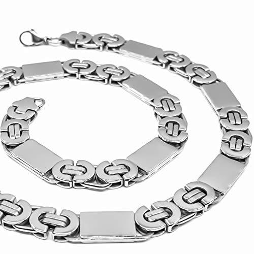 RUGGED STEEL Herren Edelstahl Königskette flach 55 cm 1 cm 100 g