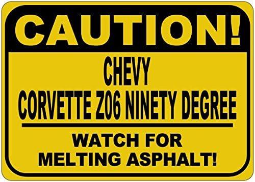 Chevy Corvette Z06 Ninety Degree Asphalt Deluxe Sign Melting Caution Arlington Mall -