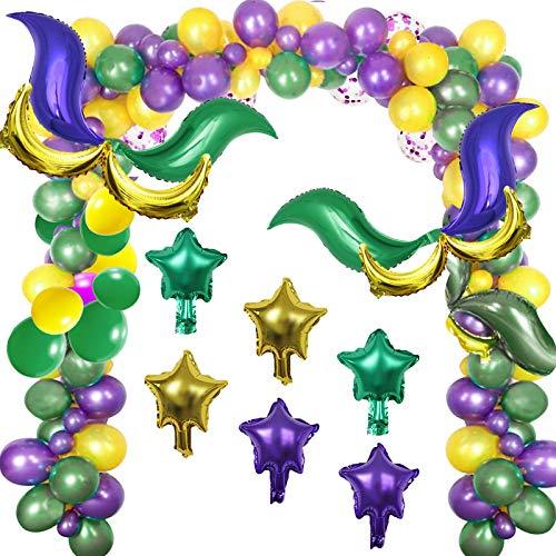 Mardi Gras Decorations Party Ballons,Gold Purple and Green Decorations Party,Mardi Gras Theme Celebration,Mardi Gras Party Supplies