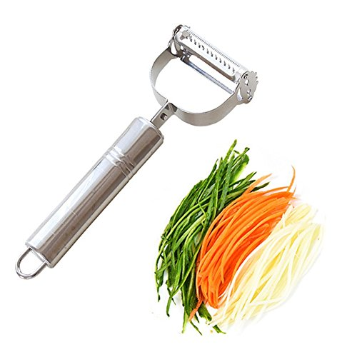 Bringsine Premium Ultra Sharp Stainless Steel Dual Julienne amp Vegetable Peeler Slicer  Amazing Tool for Making Delicious Salads and Veggie Noodles