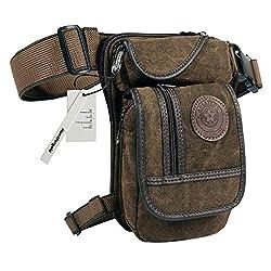 Huntforgold Mens Canvas Leg Bag Waist Pack Pack Leg Drop Utility Bag for Sport Traveling Camping Cycling Motorcycle