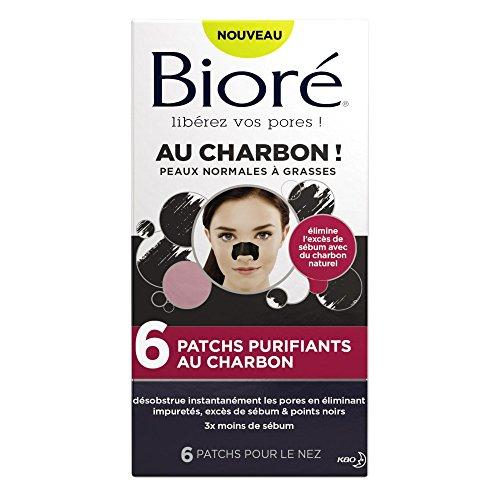 BIORÉ 6 Patchs Purifiants au Charbon