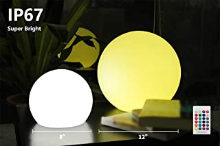 BLUEYE 8-Inch Cordless LED Ball Light,Super Bright,Easy Charging Design,IP67 Waterproof Pool Orb Light,304 Stainless Folded Hook,Magic Cleaning Kit,No Pock Bubbles,16 RGB Colors by Remote Control