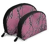 DJNGN Pink Camo Unique Cosmetic Bag Set, Bolsa de Maquillaje tamaño Monedero para Mujer, Neceser de Viaje, Organizador de Maquillaje, Bolsa de cosméticos para niñas con Cremallera, Grande, pequeña
