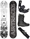 Airtracks Snowboard Set - Wide Board Akasha Wide 157 - Softbindung Master - Softboots Star Black 42 - SB Bag